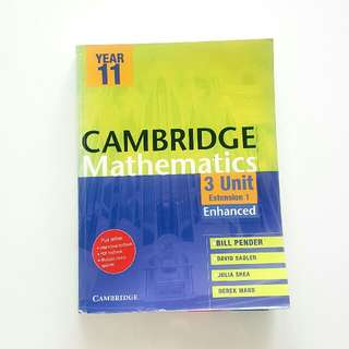 Cambridge Ext. 1 Prelim Maths