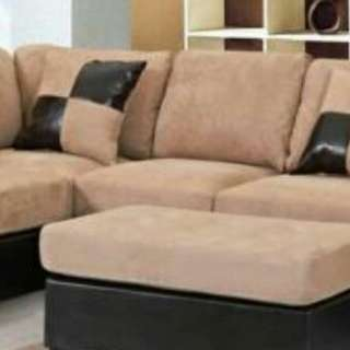 L Sectional Couch With Ottoman