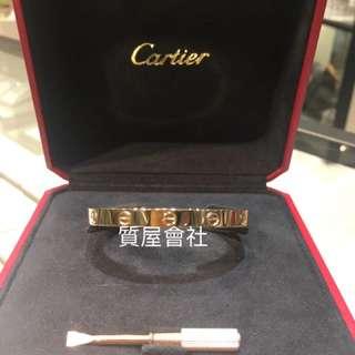 Cartier  Love bangle Rose Gold  17size 有盒有証