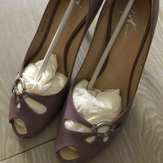 Giuseppe Zannoti Design lilac heels with silver detail