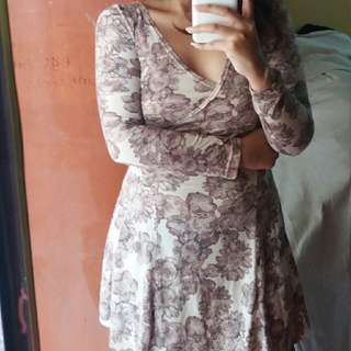 Flower Suite Mini Dress