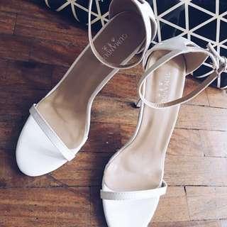 Sexy white pump sandals