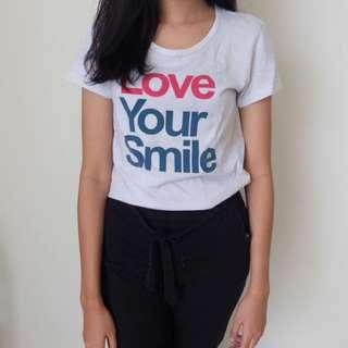 Giordano Love Your Smile Top