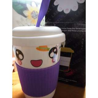 剪刀石頭部陶瓷杯-紫