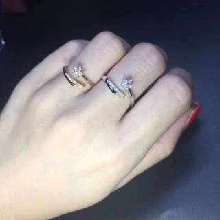 18K金鑽石 流星戒指