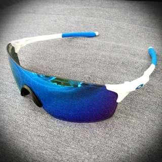 EVzero Pitch Oakley Sunglasses Sapphire Iridium #EndGameYourExcess