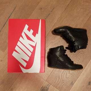 Nike Dunk Sky Hi Black Wedge Sneakers Size 8