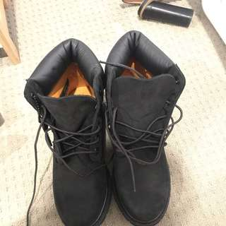 Timberlands In black. Brand New.