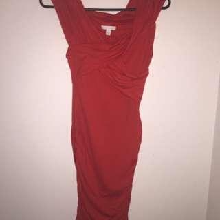 Kookai off shoulder red dress