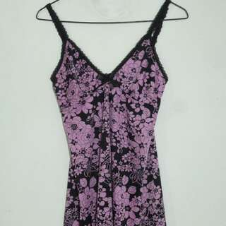 Floral Print Black/pink Nighties