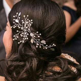 Vine Bridal Headpiece, Bridesmaid Headpiece, Aksesoris Rambut Wedding & Pesta Silver