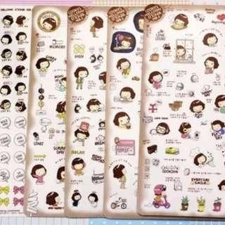 Cooky's Helloday Korean Planner Stickers