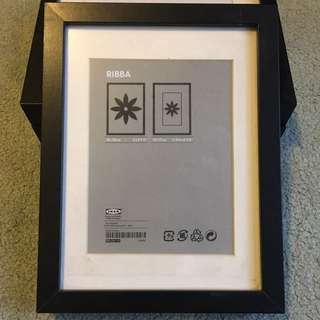 3x IKEA Black Photo Frames