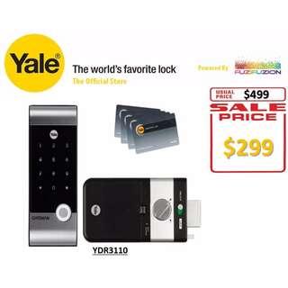 Yale Hi Tech RF Card Digital Door Lock (Rim Lock) - YDR 3110