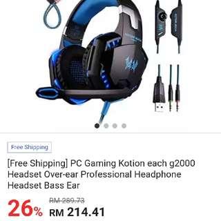 Gaming Headset..mousepad..gaming Mouse..gaming Keyboard