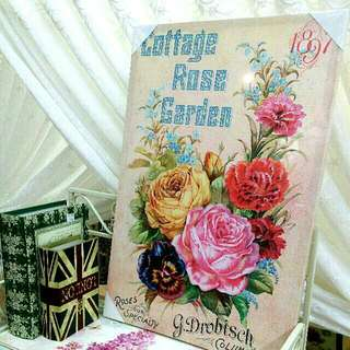Vintage English Country Rose Print Paintings (L)