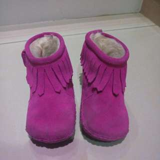 女童保暖流蘇靴