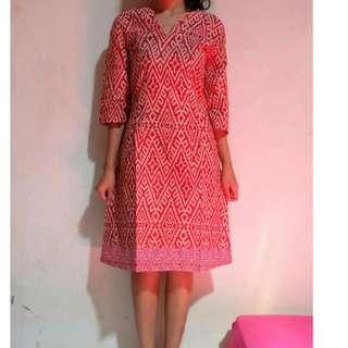 Dress batik size M
