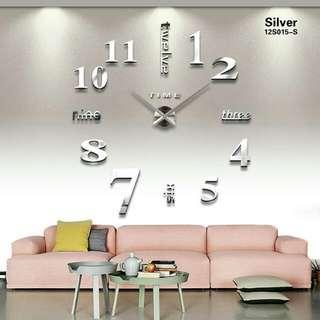 Giant Wall Clock 80-130cm/ jam dinding