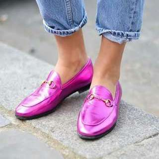 SRADIVARIUS SHOCKING PINK  CARIMA LOAFER FLAT