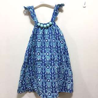 cotton on kids blue dress size 6