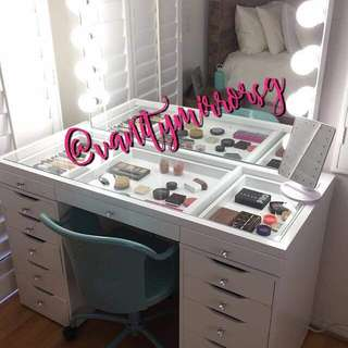 Price is out..!!  Glass & Full Mirror Vanity Set