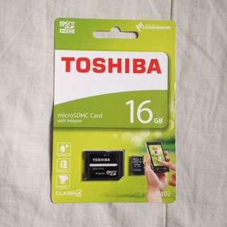 Toshiba microSDHC card 16GB