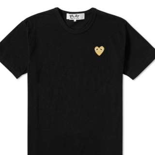 CDG Play Gold Heart Logo Tee