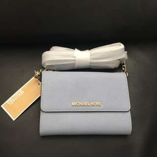 Clearance! NWT Michael Kors Jet Set Travel Smartphone Crossbody - Pale Blue
