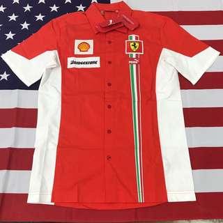 Puma Ferrari Bridgestone 全新 聯名賽車風短袖襯衫 S