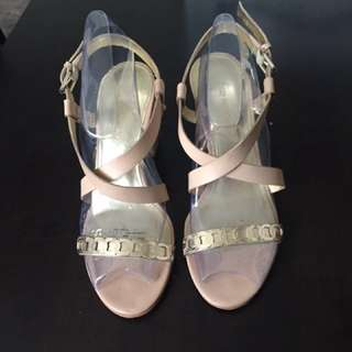 Nude/gold Sandals Enzo Angiolini
