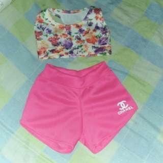 Terno Shorts And Crop Top