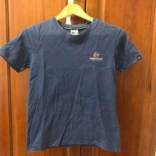 🚚 Underpeace logo t shirt 藍色