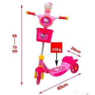Hello Kitty 3 WHEELS PUSH KICK KIDS SCOOTER.👌👌👌