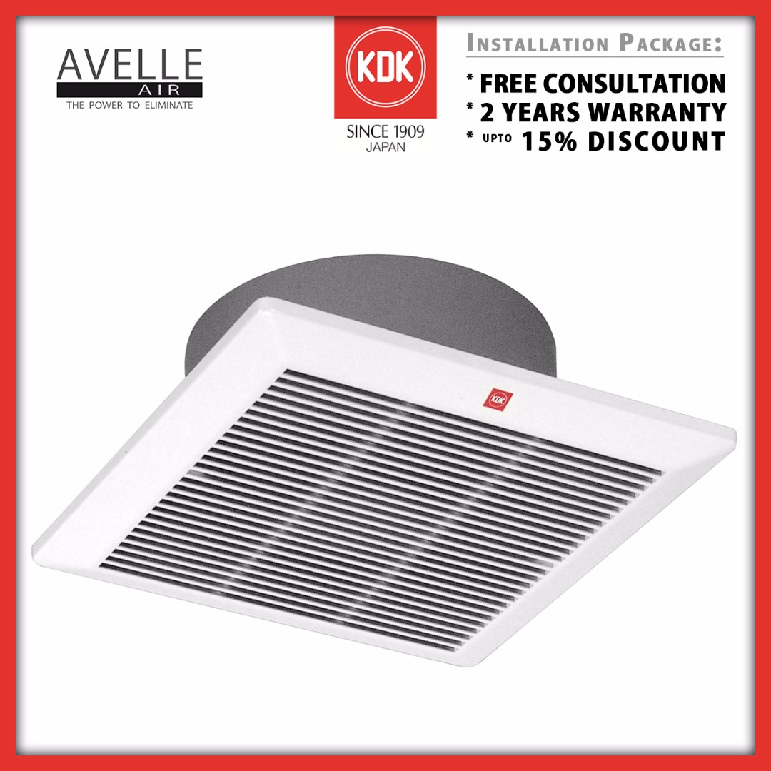 20cqt1 Ndp Promotion Ceiling Vent Fan Installation Package 2 Wiring A Bathroom Exhaust Quotes Yrs Warranty 15 Discount Home Services Renovations On Carousell