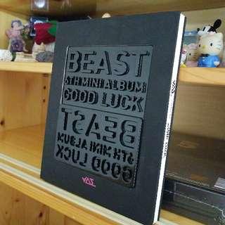 韓國正版CD連海報 Beast 6th Mini Album Good Luck Black Cover