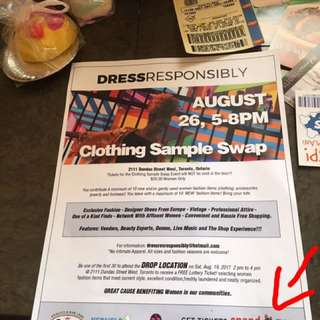 DRESS RESPONSIBLY EVENT TOMORROW