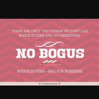 #notobogusbuyers