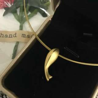 REDUCED 24k Pure Gold Fish Pendant