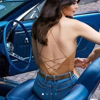 Bardot Gold Paloma Knit