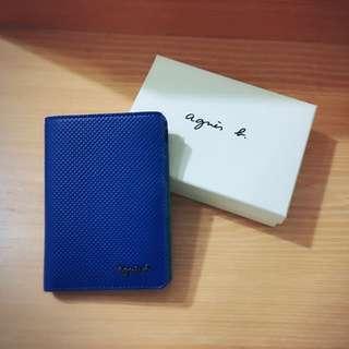 Agnès b 卡片短夾(寶藍色)