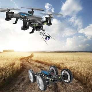 K20 2.4Ghz WiFi FPV RC Quadcopter Car with 0.3MP Camera Land/Sky Drone RTF Toy