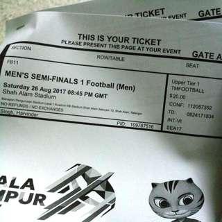 Semi Final Malaysia Vs Indonesia Ticket