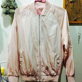 粉紅飛行外套(薄款)