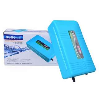 Sobo Portable battery Operater Air Pump for Fish Tank Or Fishing