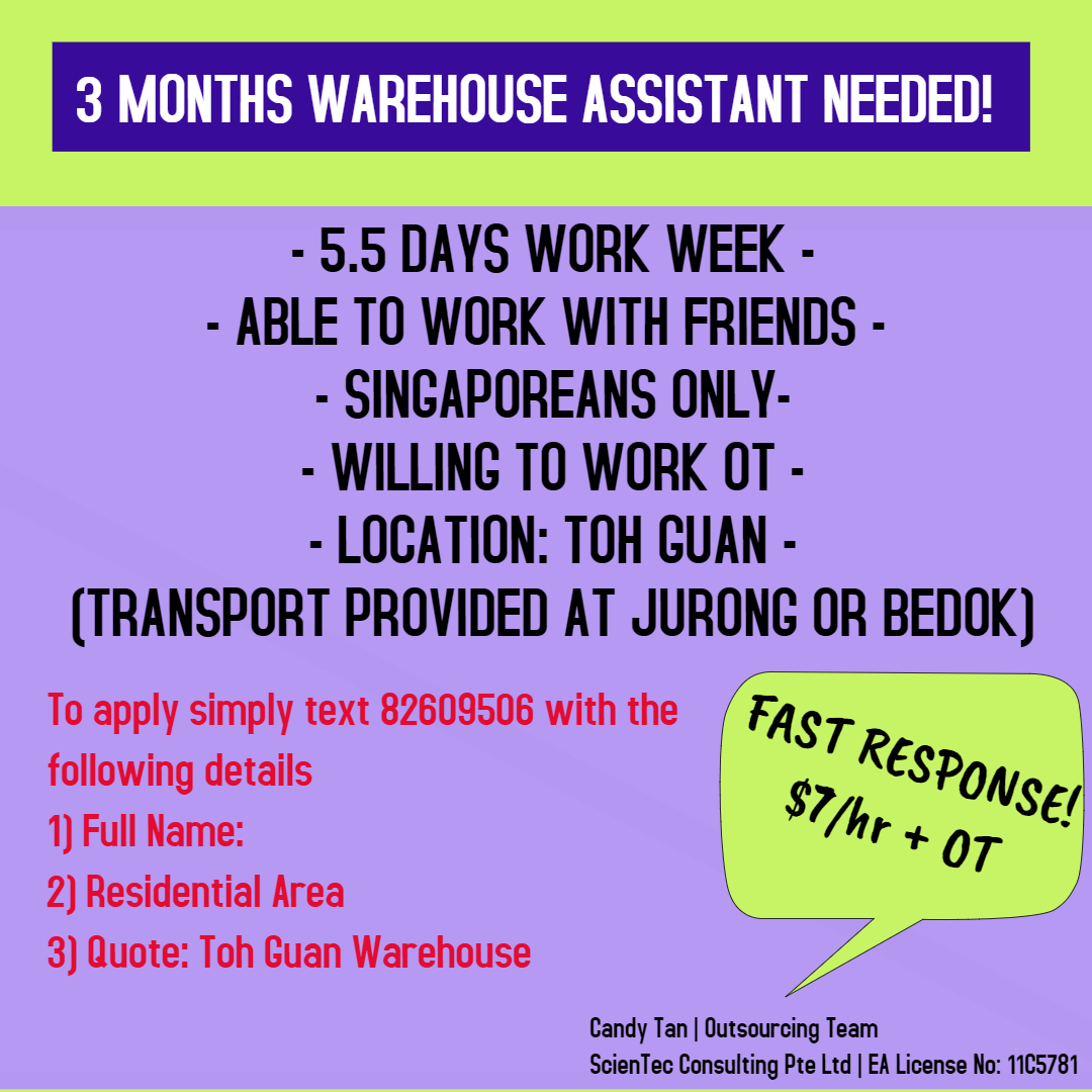 3 MONTHS JOB! | ABLE TO WORK WITH FRIENDS!, Jobs, Warehouse