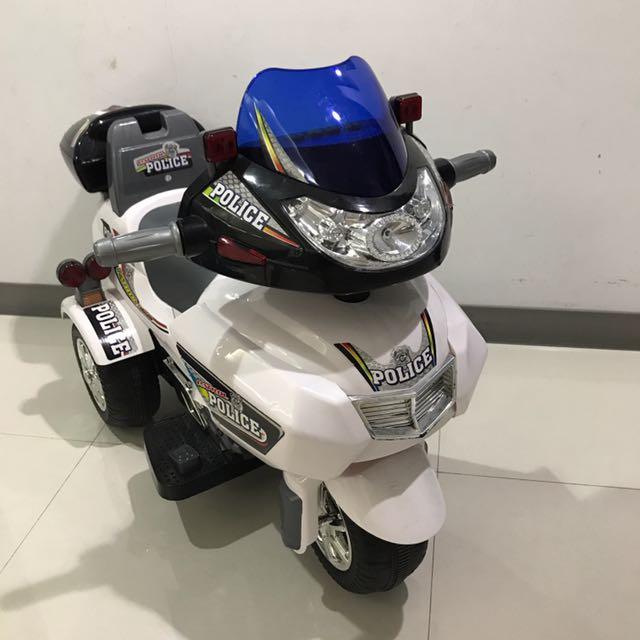 兒童警察電動摩托車