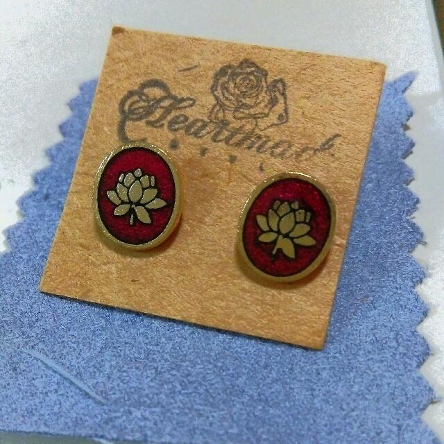 蓮花造型耳環