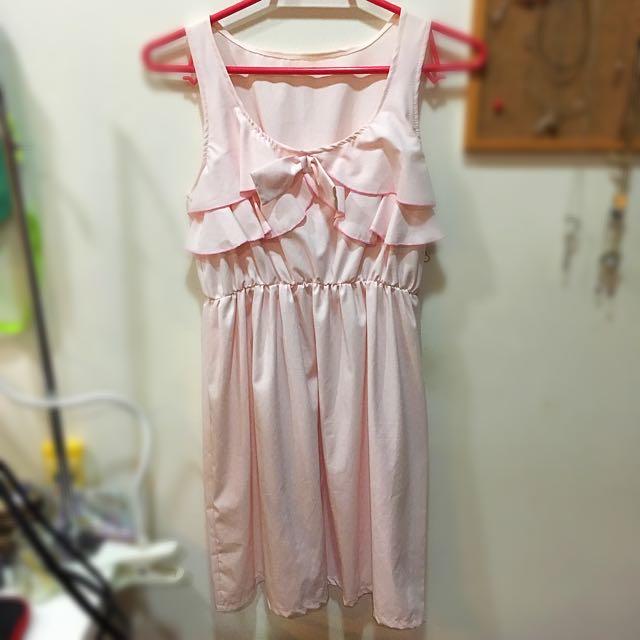 泰國購入 粉色洋裝