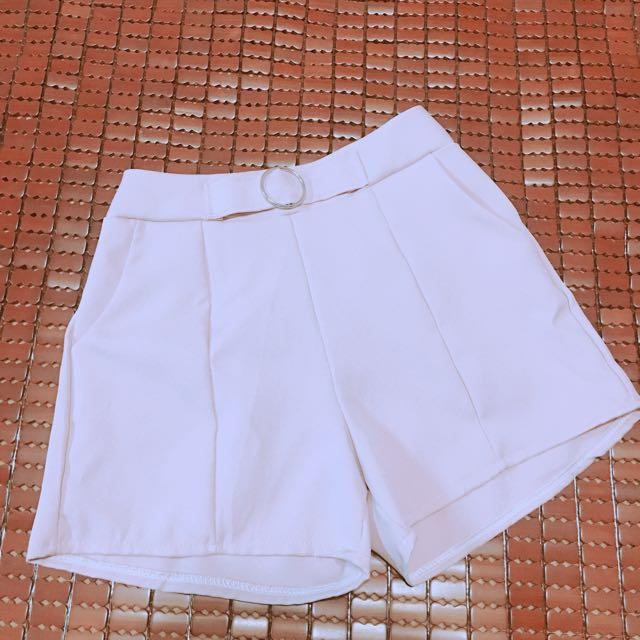 粉色 縮口 束口 彈性 鬆緊帶 短褲